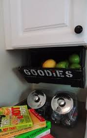 Under Cabinet Kitchen Storage by Cabinet Cabneat Custom Kitchen Storage Fruit Bin Crate Shelf