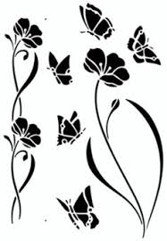 butterfly stencil template silouette cameo pinterest stencil