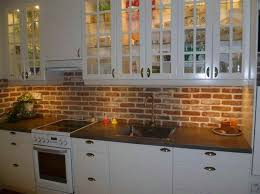 kitchen with brick backsplash brilliant plain faux brick for kitchen backsplash best 20 faux