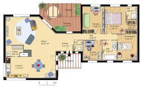 plan de maison plain pied 3 chambres gratuit plan maison plain pied 3 chambres 3d design photo décoration