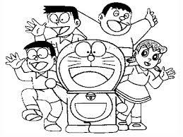 doraemon friends coloring pages cartoon