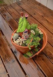broken pot fairy garden hometalk