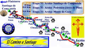 santiago de compostela camino etapa 32 camino franc礬s a santiago monte do gozo a santiago