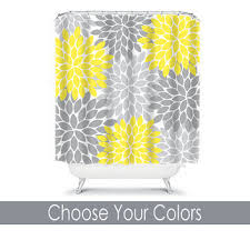Grey And Yellow Shower Curtains Best Flower Burst Shower Curtain Products On Wanelo