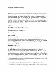 Resume Template For Restaurant Manager General Basic Objective For Resume Objective Resume Examples Free