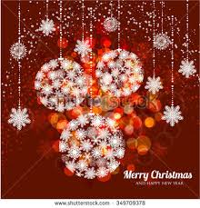 Christmas And New Year Christmas Decorations Snowflakes Vector by Merry Christmas Happy New Year Card Stock Vector 164805311