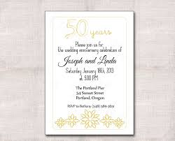 Golden Wedding Invitation Cards Amazing 50th Wedding Anniversary Invitation Sample Plus Black Gold