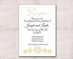 Anniversary Invitation Cards Samples Amazing 50th Wedding Anniversary Invitation Sample Plus Black Gold