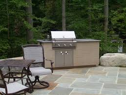 Patio Kitchen Stone Patio Outdoor Kitchen And Water Feature In Bethesda Md