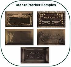bronze cemetery markers vedder view gardens cemetery in sardis chilliwack sles of