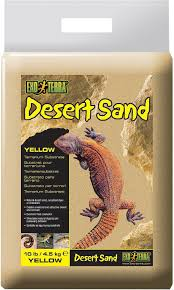 exo terra desert sand terrarium reptile substrate yellow 10 lb