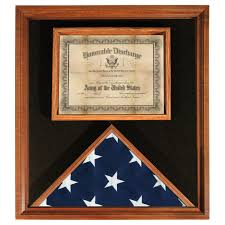 Flag Folded Into Triangle Flag Display Cases For 3 Ft X 5 Ft Flags Wood Finish