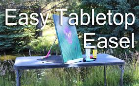 How To Build A Wood Table Top Podium by Easy Tabletop Easel For 3 Youtube