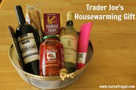 trader joe s gift baskets housewarming gift idea frugal