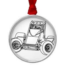 sprint car ornaments keepsake ornaments zazzle