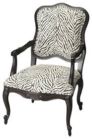 Zebra Accent Chair Zebra Pattern Jacquard Accent Chair Armchairs And Accent Chairs