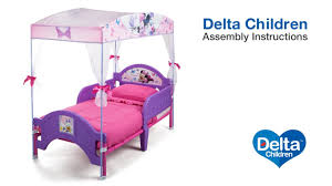 Frozen Canopy Bed Delta Children Toddler Canopy Bed Assembly