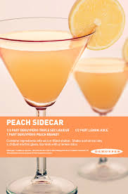 peach sidecar perfect 60 u0027s cocktail for a viewing party this