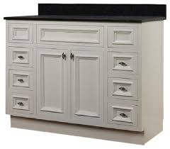 JSI Danbury  White Bathroom Vanity Cabinet W  Doors - 48 white bathroom vanity cabinet