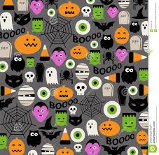 halloween background designs vector seamless pattern kawaii halloween design stock vector