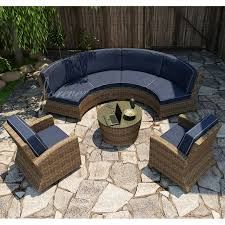 Curved Sofa Sectional by Forever Patio Cypress Wicker Curved Sofa Sectional 5 Pc