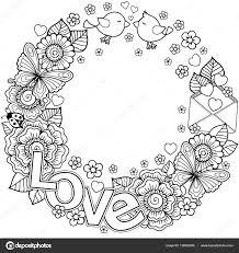 vector coloring page for round shape made of abstract