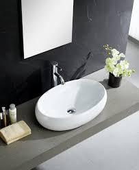 Modern Bathroom Sink Fixtures Modern Ceramic Oval Vessel Bathroom Sink Reviews