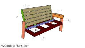 large outdoor bench plans myoutdoorplans free woodworking