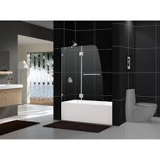amazon com dreamline aqua lux 48 in width frameless hinged tub