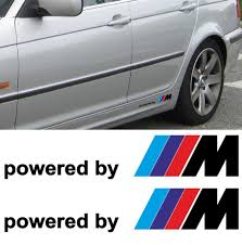 product 2x bmw powered by m m3 m5 m6 325 328 540 decal sticker