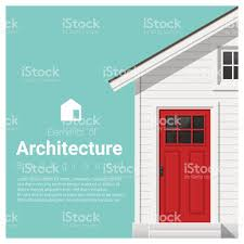 A Small House Elements Of Architecture Background With A Small House Vector