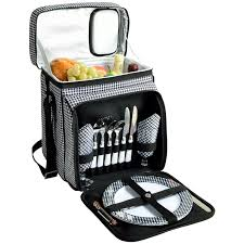 at ascot insulated picnic basket cooler fully equipped with