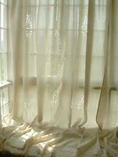Embroidered Linen Curtains French Country Embroidered Cotton Blend Curtains Drapes