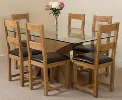 light oak dining room sets valencia oak 160cm wood and glass dining table with 6 lincoln solid