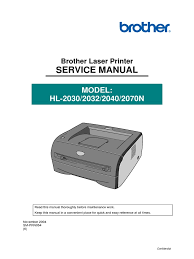 brother hl 2030 hl 2032 hl 2040 hl 2070n service manual