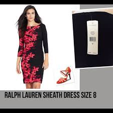 51 off ralph lauren dresses u0026 skirts new ralph lauren black red