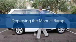 manual ramp operation on a vmi toyota ada northstar e youtube