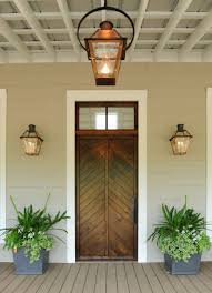 Lantern Style Outdoor Lighting by French Quarter On Original Bracket Copper Lights Bevolo Gas