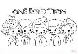 chibi one direction coloring page free printable coloring pages