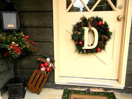 front porch christmas decorating ideas country potted tree and
