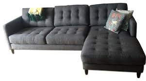 Sofas New York Attractive Couch With Chaise Lounge A Amp G Merch Sunset Park