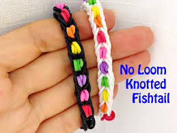 looms bracelet easy images No loom new pattern easy knotted fishtail bracelet without a jpg