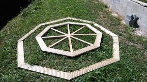 diy octagonal picnic table myoutdoorplans free woodworking