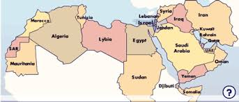 arab countries map middle east info org israel