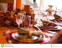 thanksgiving table stock photo image of dinner autumn 33291024