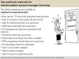 job description account manager cover letter job description