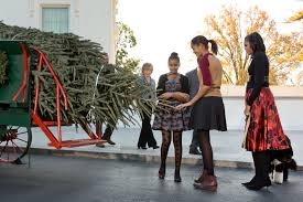 first lady michelle obama receives the 2012 white house christmas