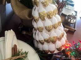 Christmas Tree Made Of Christmas Lights - diy christmas tree plastic spoon craft the heathered nest