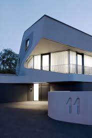 reinforced concrete house with aluminum facade