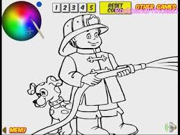 firefighter coloring pages kids firefighter coloring pages